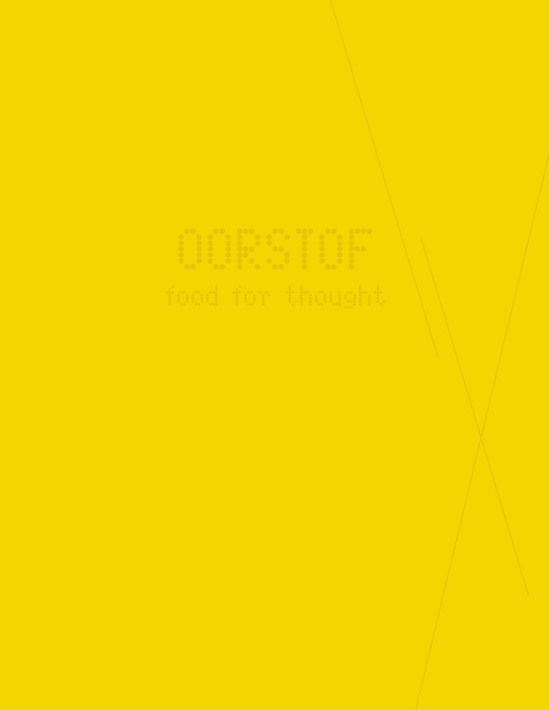 Oorstof: Food for Thought book