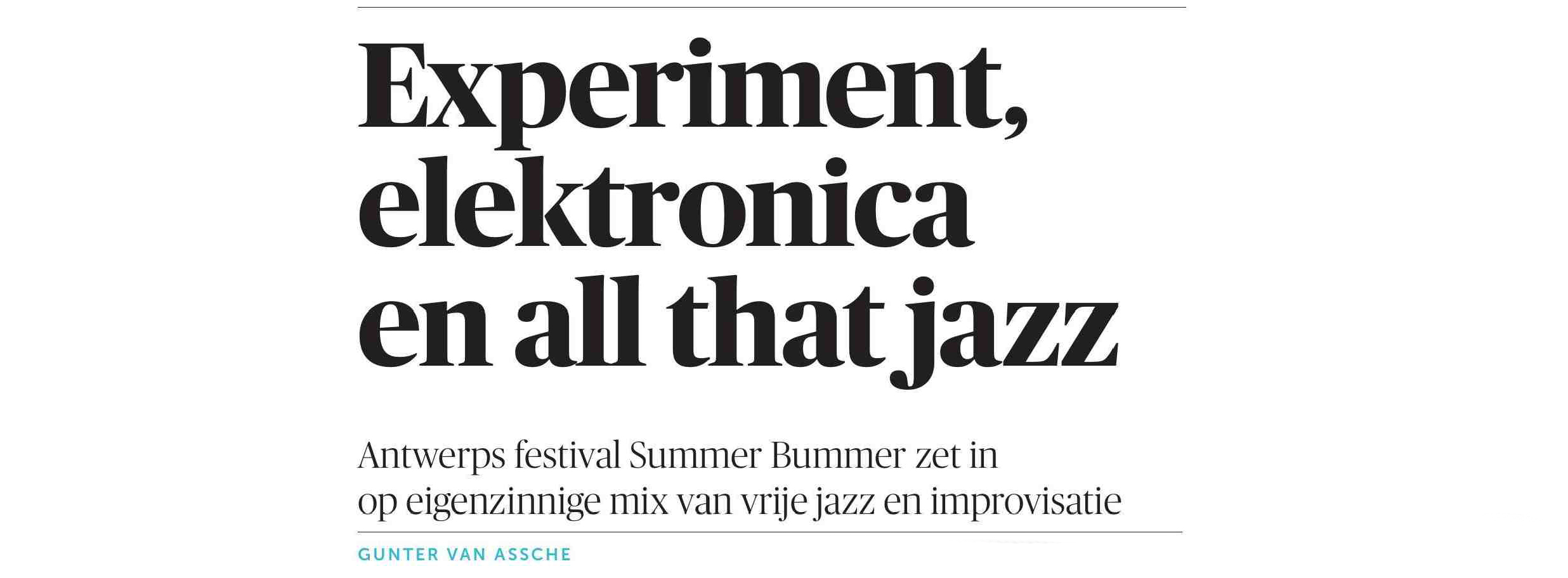 SUMMER BUMMER PREVIEW – DE MORGEN